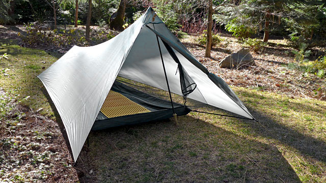 Tarptent ProTrail - 26 ounces - watch out, some of these require trekking poles! Or you can purchase a pole for many of them.
