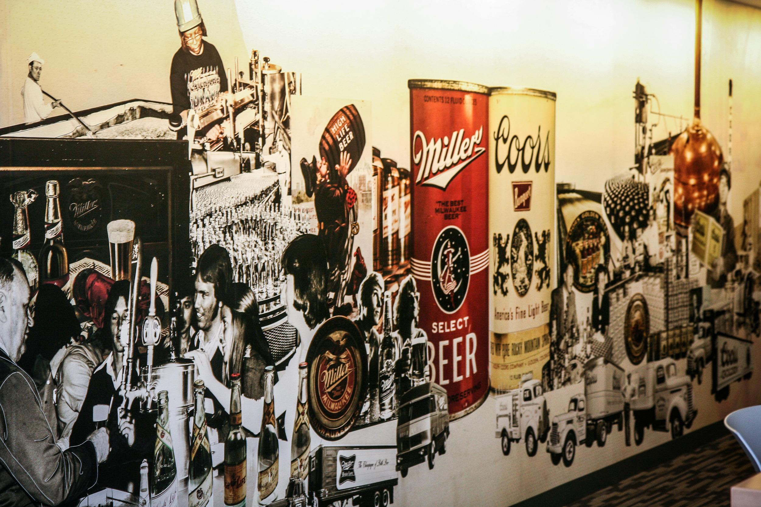 MillerCoors Digital Collage Mural