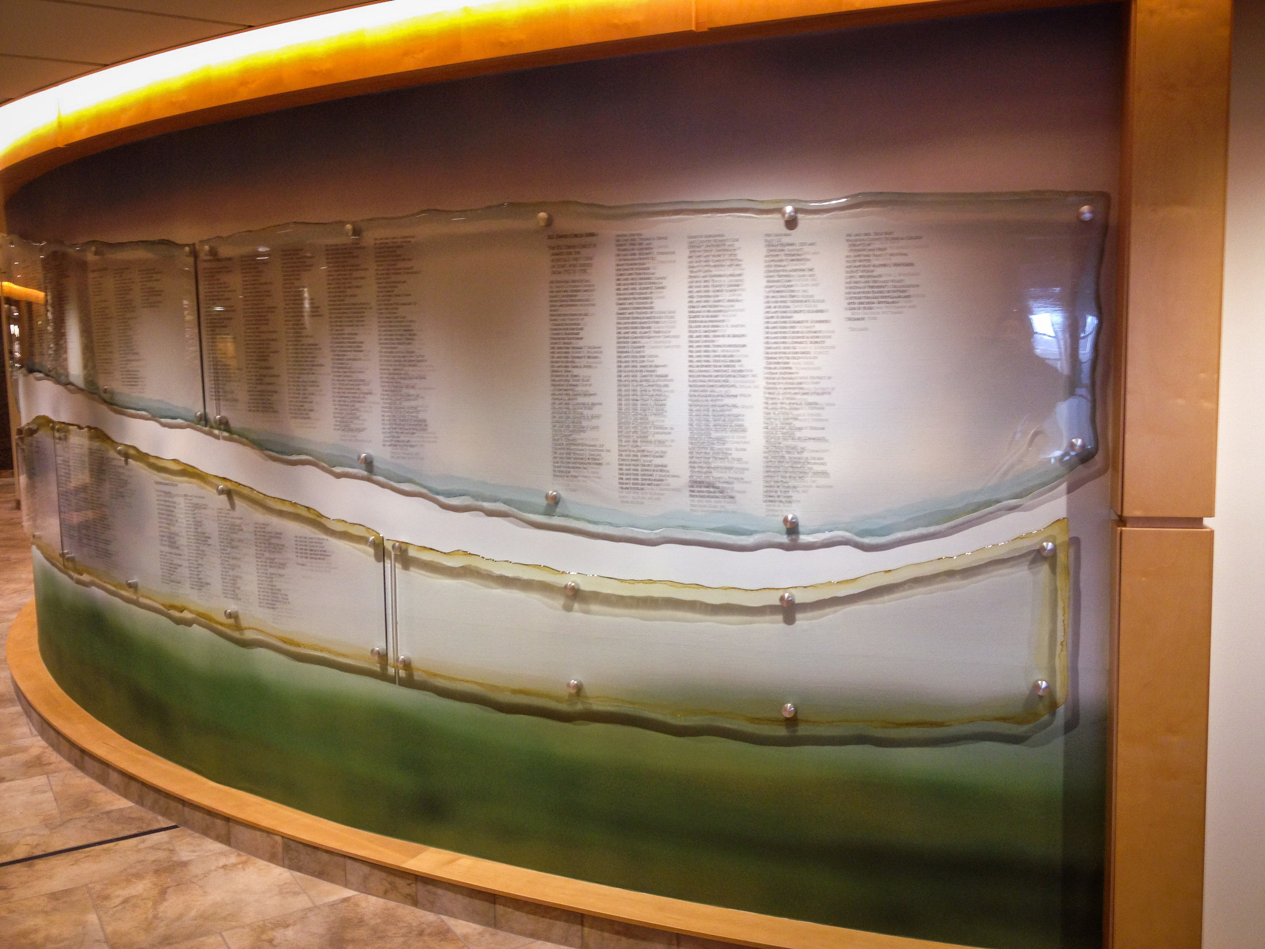 Waukesha Memorial Donor Recognition Wall