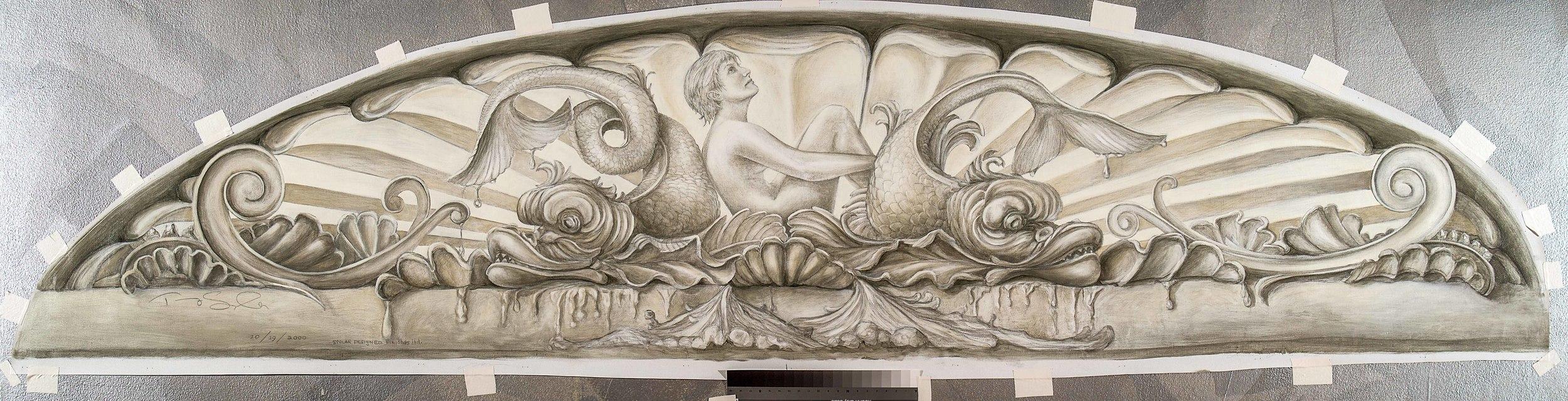 Tate Residence Vestibule Painting Detail
