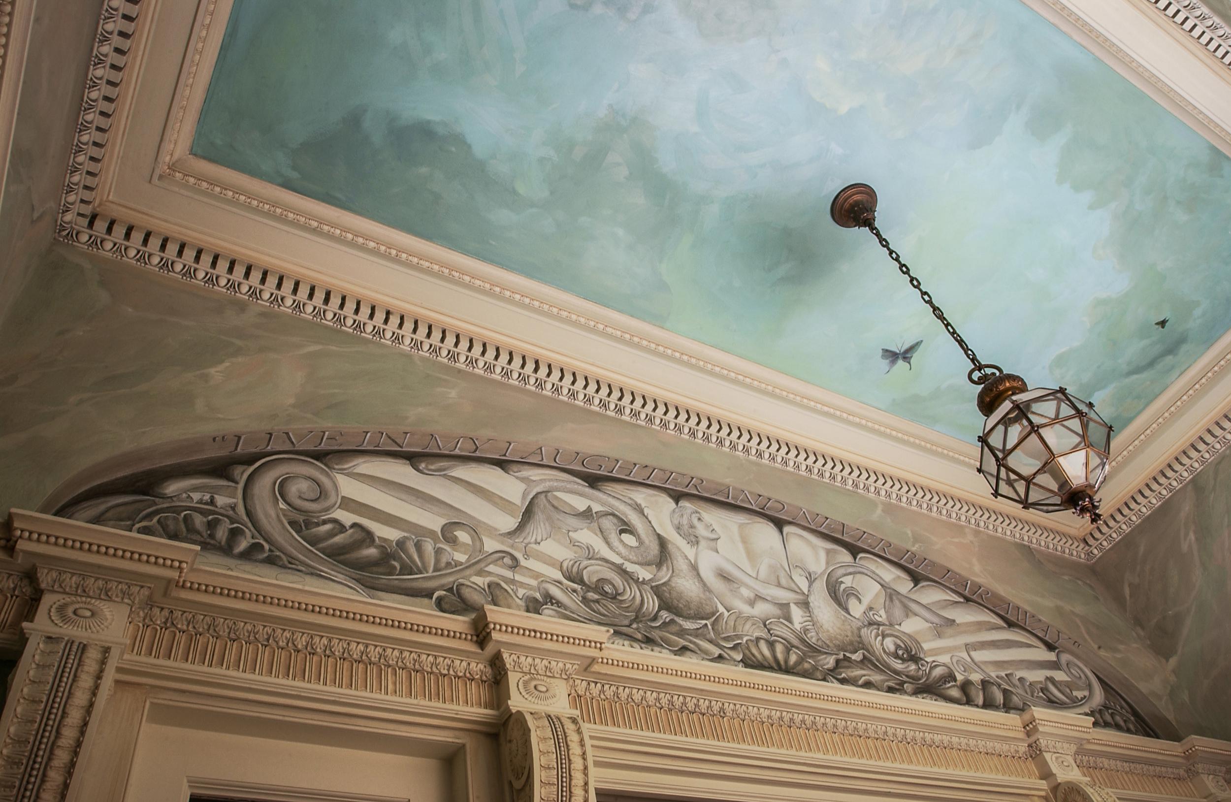 Tate Residence Vesitbule Ceiling Murals