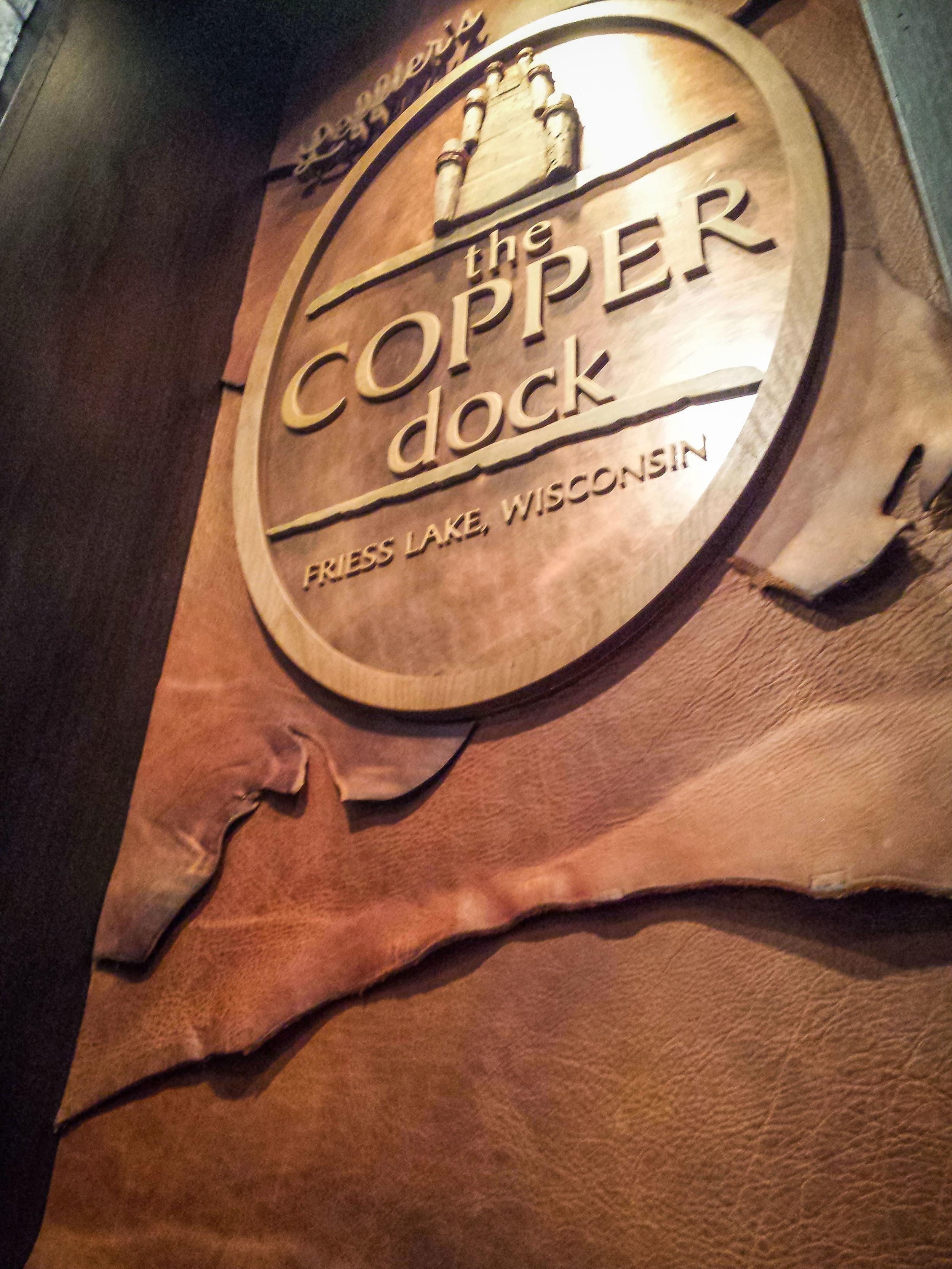 Copper Dock Signage