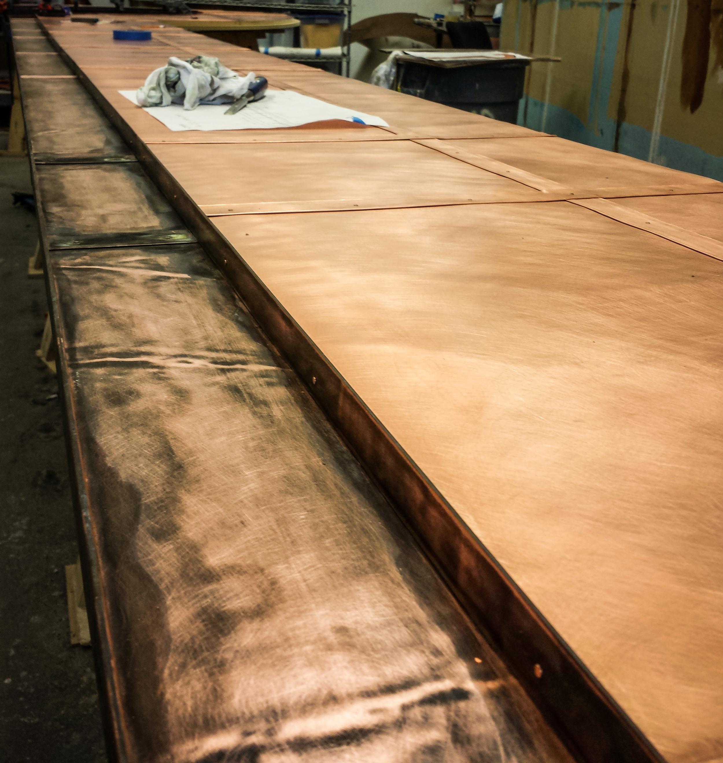 Copper Dock Bar Top