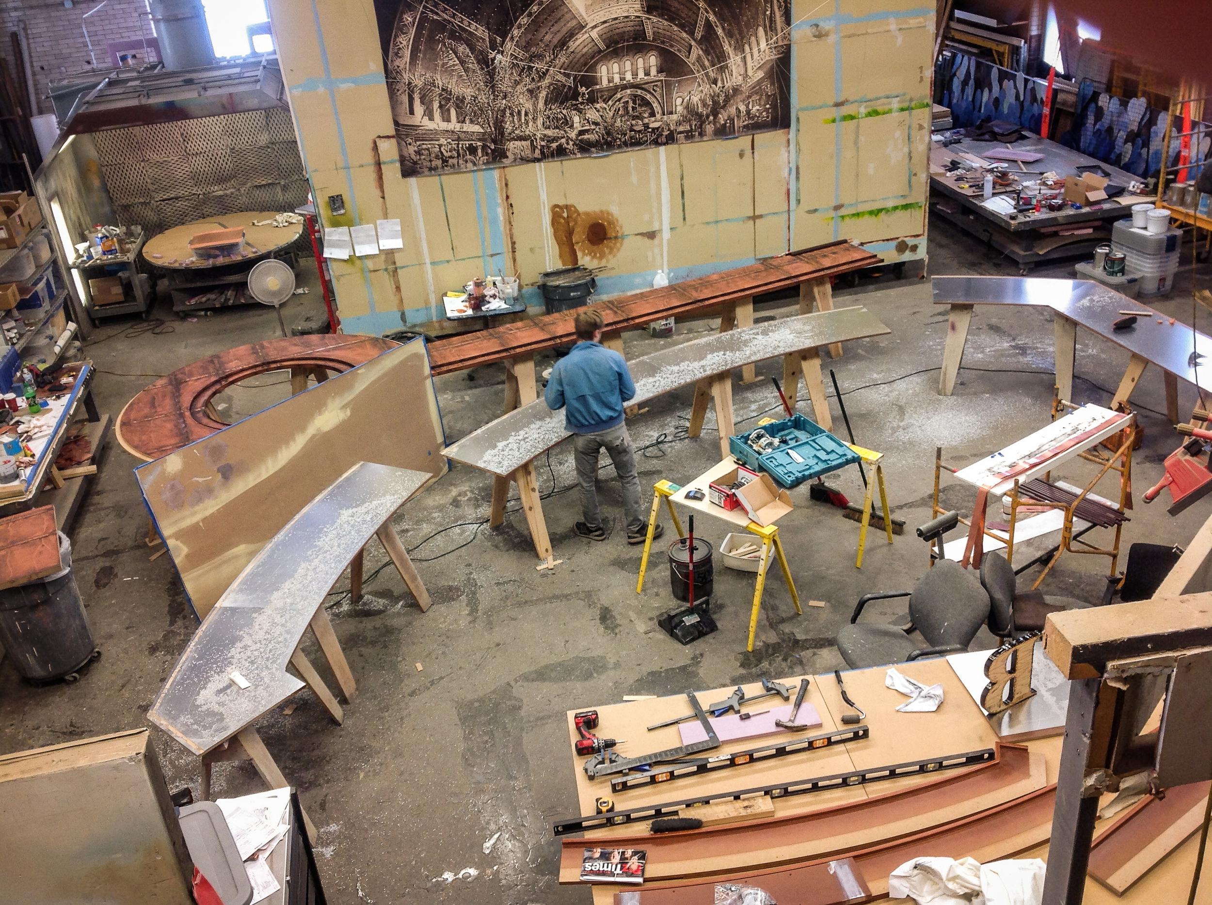 Copper Dock Working Shot