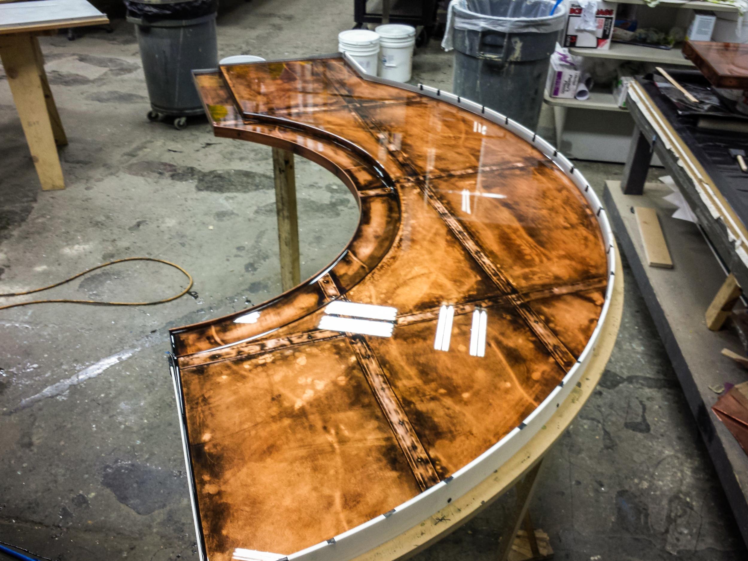 Copper Dock Custom Bar Top