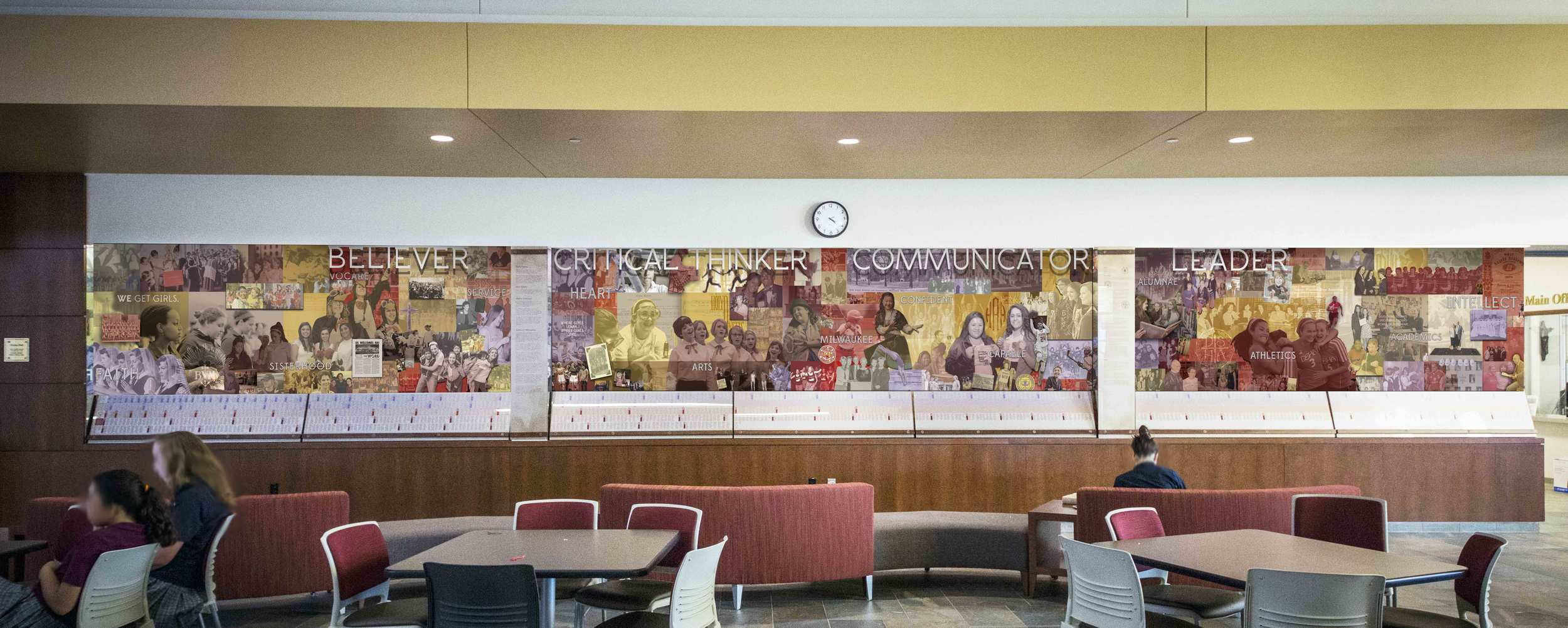 Divine Savior Holy Angels High School History Wall