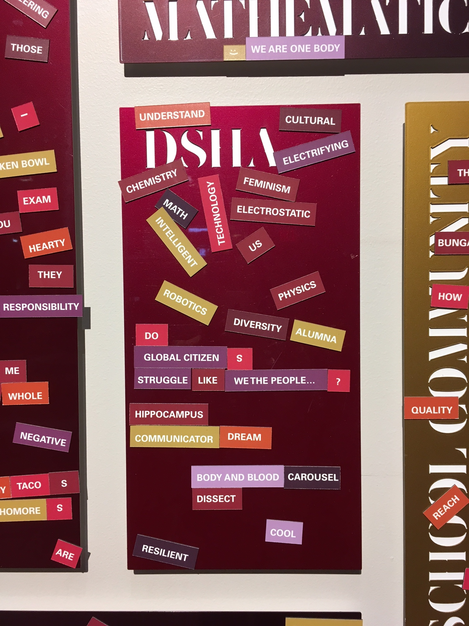 DSHA Magnetic Poetry Wall