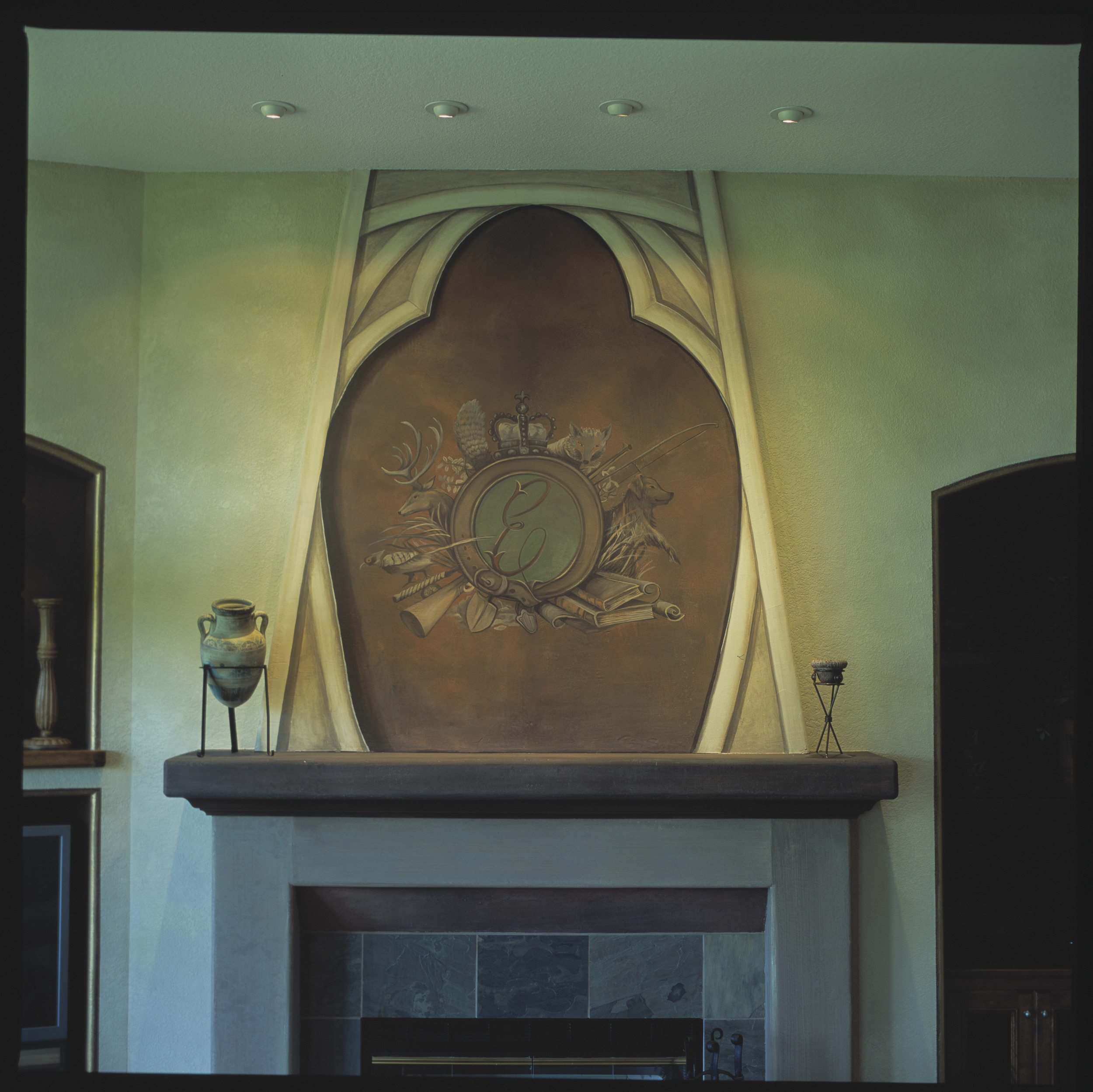 Private Residence Fireplace Mural