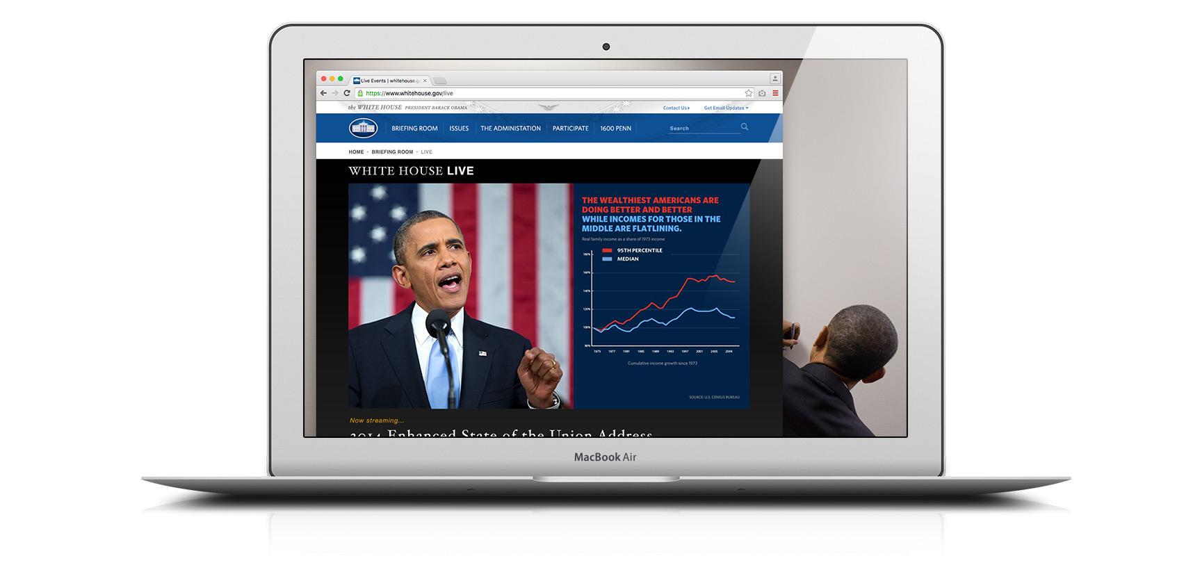 WhiteHouse.gov Live Section