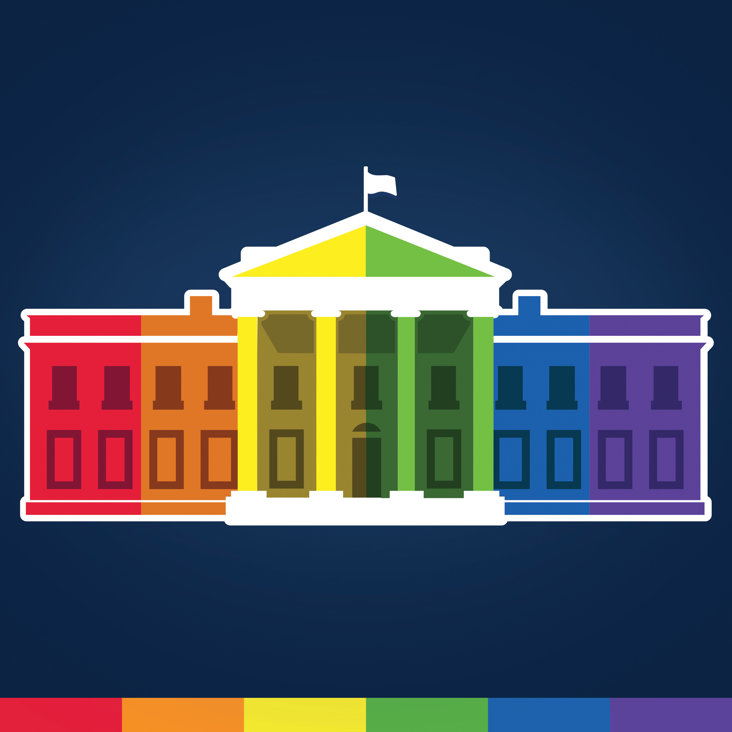 #LoveWins Campaign - Obama White HouseIn 2015, Ashleigh Axios created the White House iconography celebrating the historic Supreme Court ruling legalizing same-sex marriage across the US.