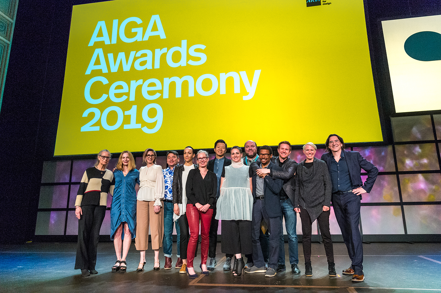 AIGA National Board members at the 2019 AIGA Design Conference and Awards Ceremony chaired by Ashleigh Axios, April 6, 2019. (Photo by  Frank Aymami Photography )