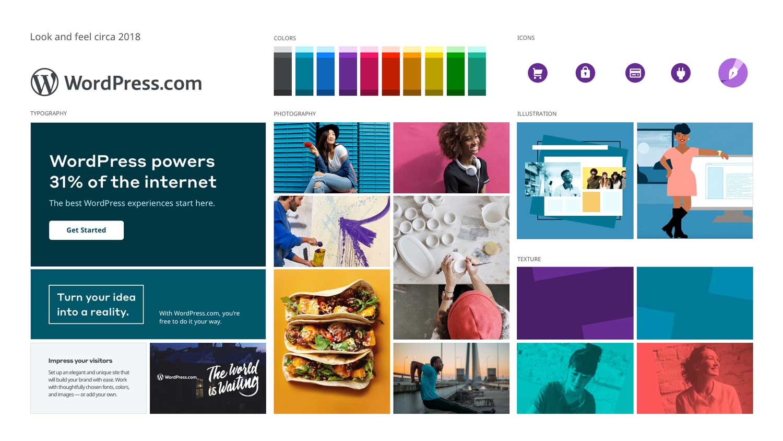 WordPress.com look and feel circa 2018