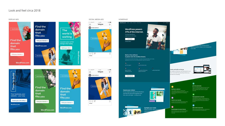 WordPress.com marketing elements circa 2018