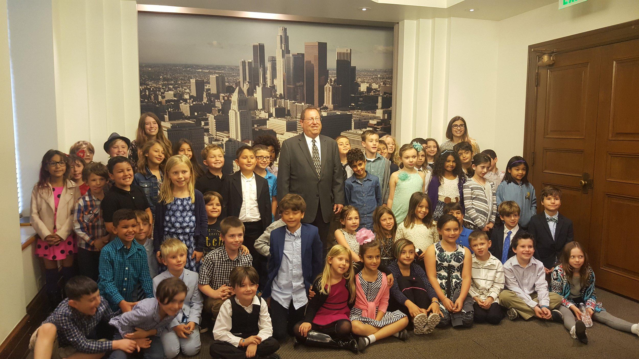 CLAW Kids from iLEAD Encino meet with Councilmember Paul Koretz