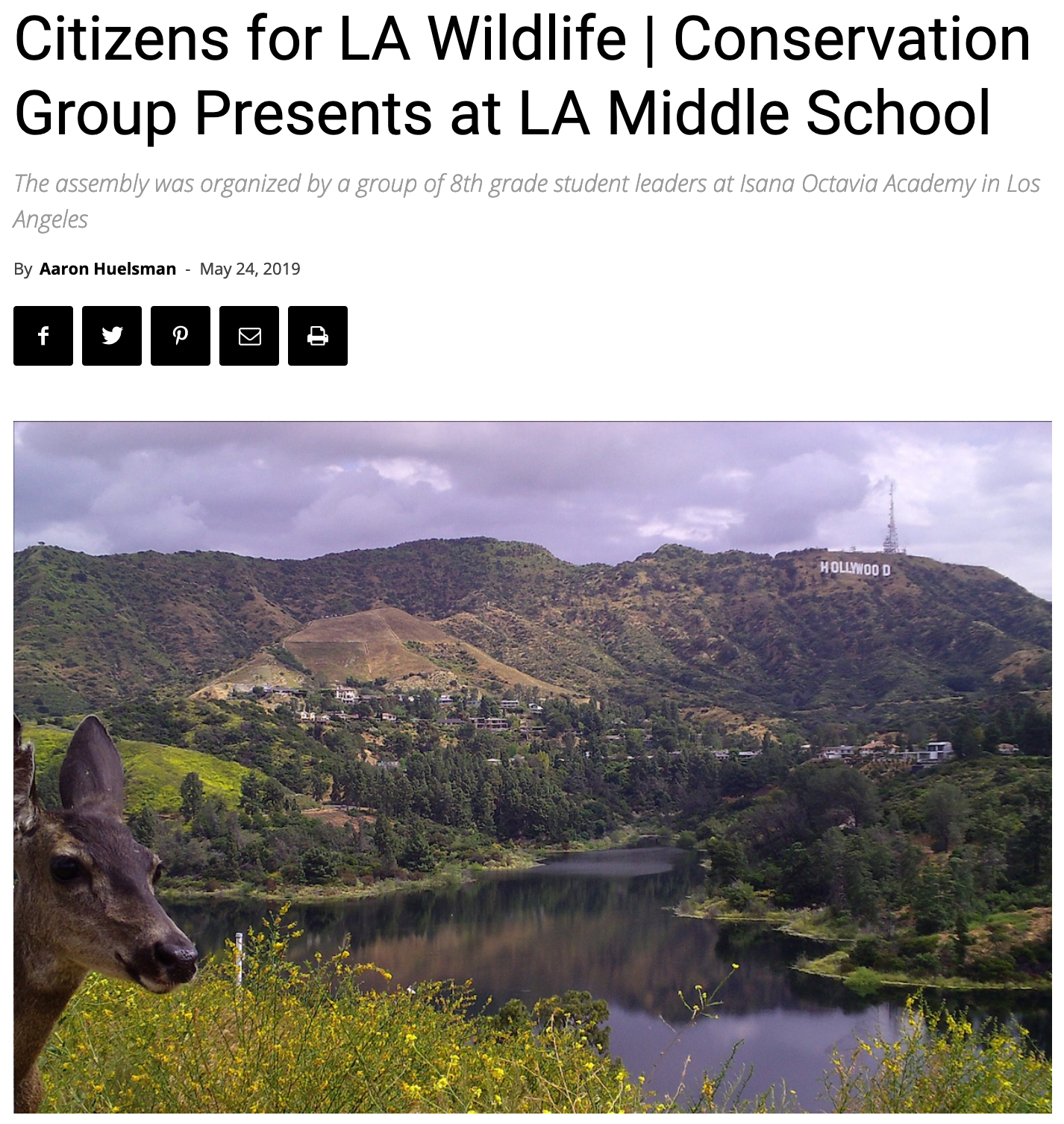The South Pasadenan profiles CLAW's educational program.
