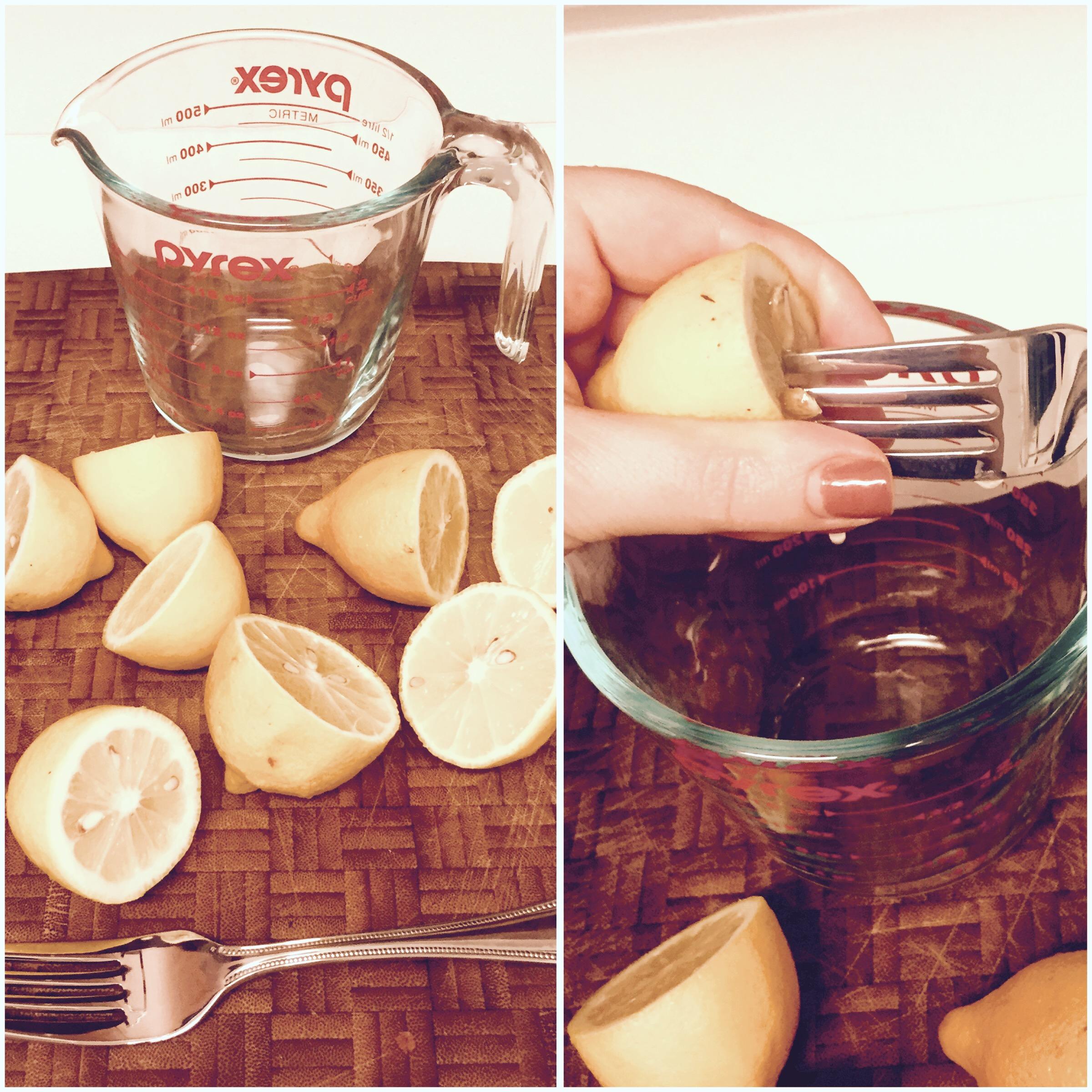 squeezed lemon juice for healthy soup