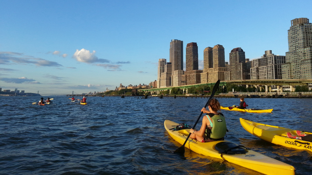 Kayaking Summer Workout New York City