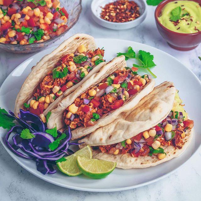 Vegan Spicy Mexican Tacos via @nadiashealthykitchen https://nadiashealthykitchen.com/vegan-spicy-mexican-tacos/ #delicious #Vegan #recipes #vegan #vegetarian #foodidea #food #healthyfood #healthyeating #foodporn