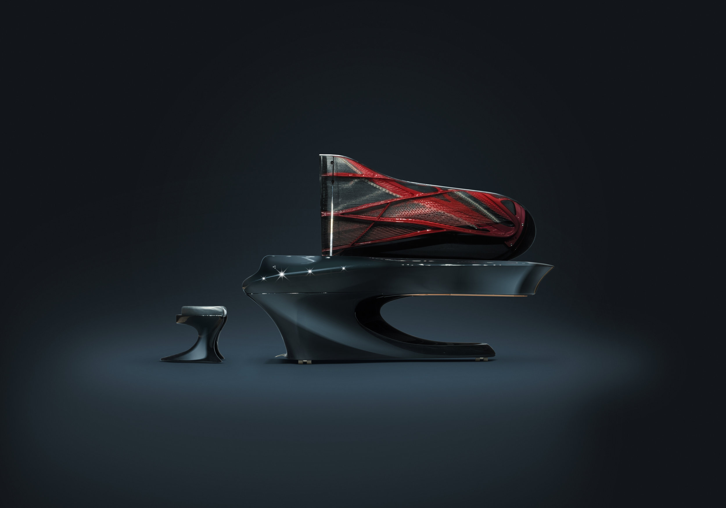 The stunning curves and flows of the new Bogányi grand piano