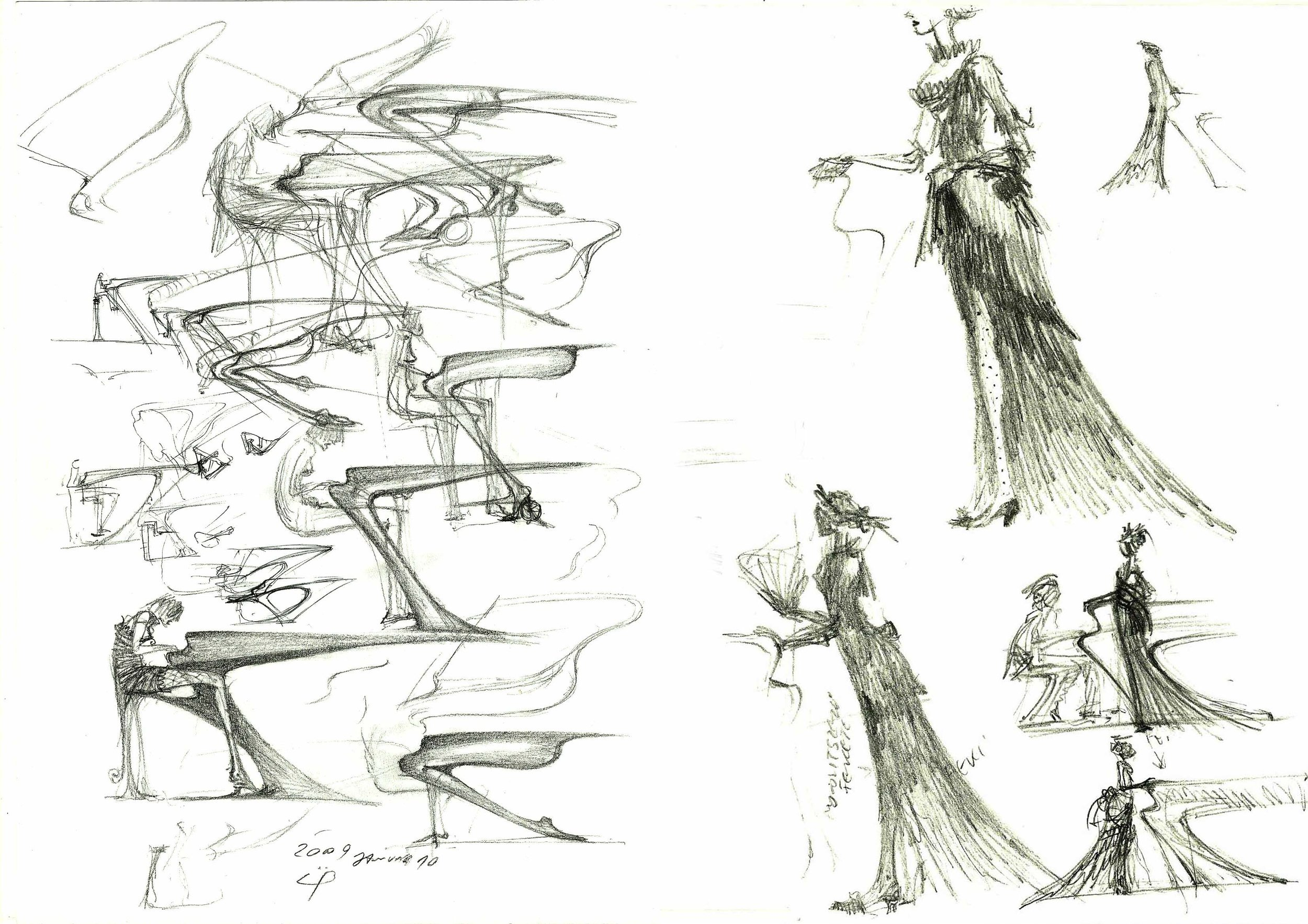 Original sketches by Péter Üveges