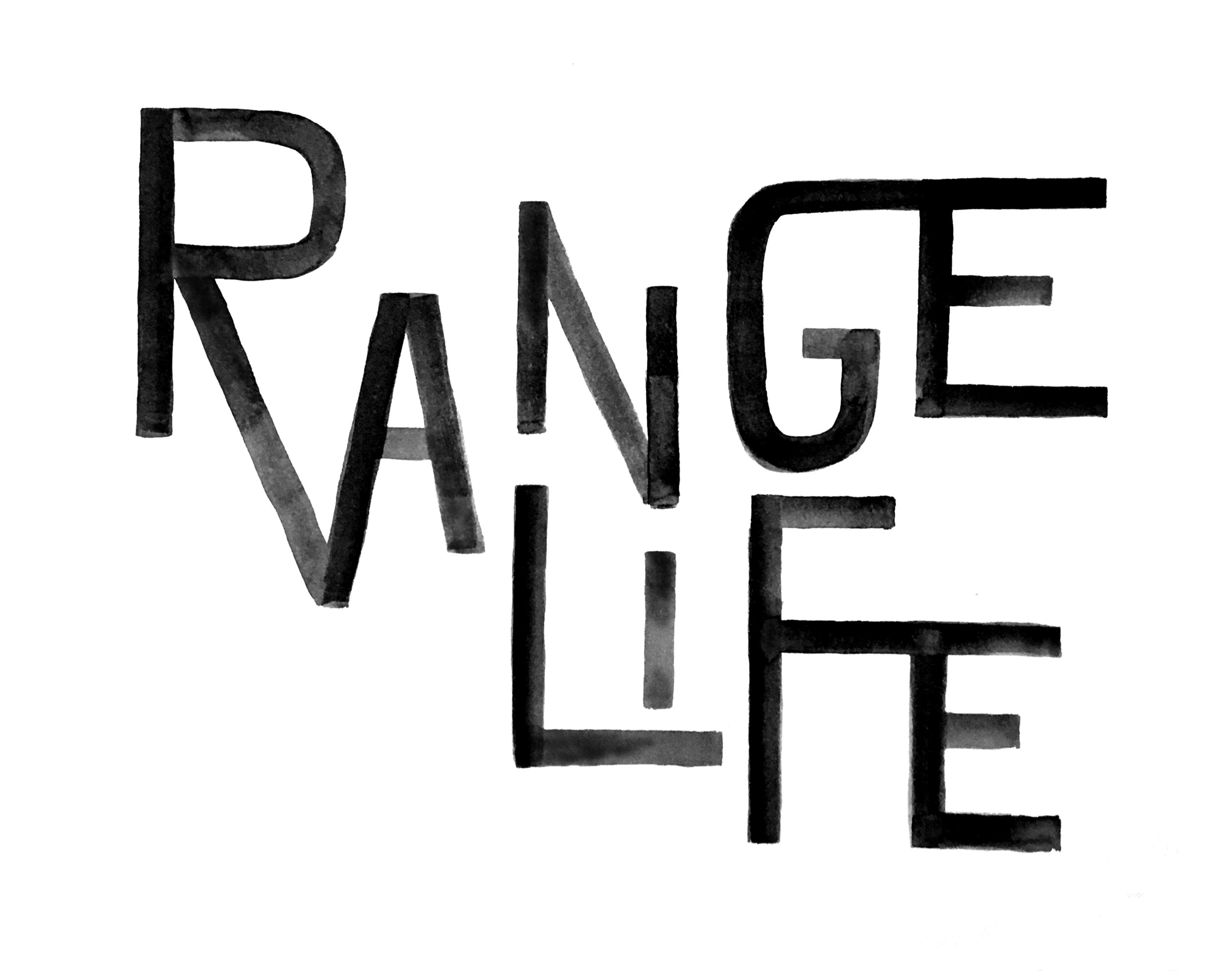 Wordmark for Range Life, 2018