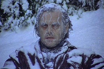 Sorry...couldn't help myself. This picture definitely represents the epitome of both 'cold' and 'ill'. Jack Nicholson in  The   Shining.