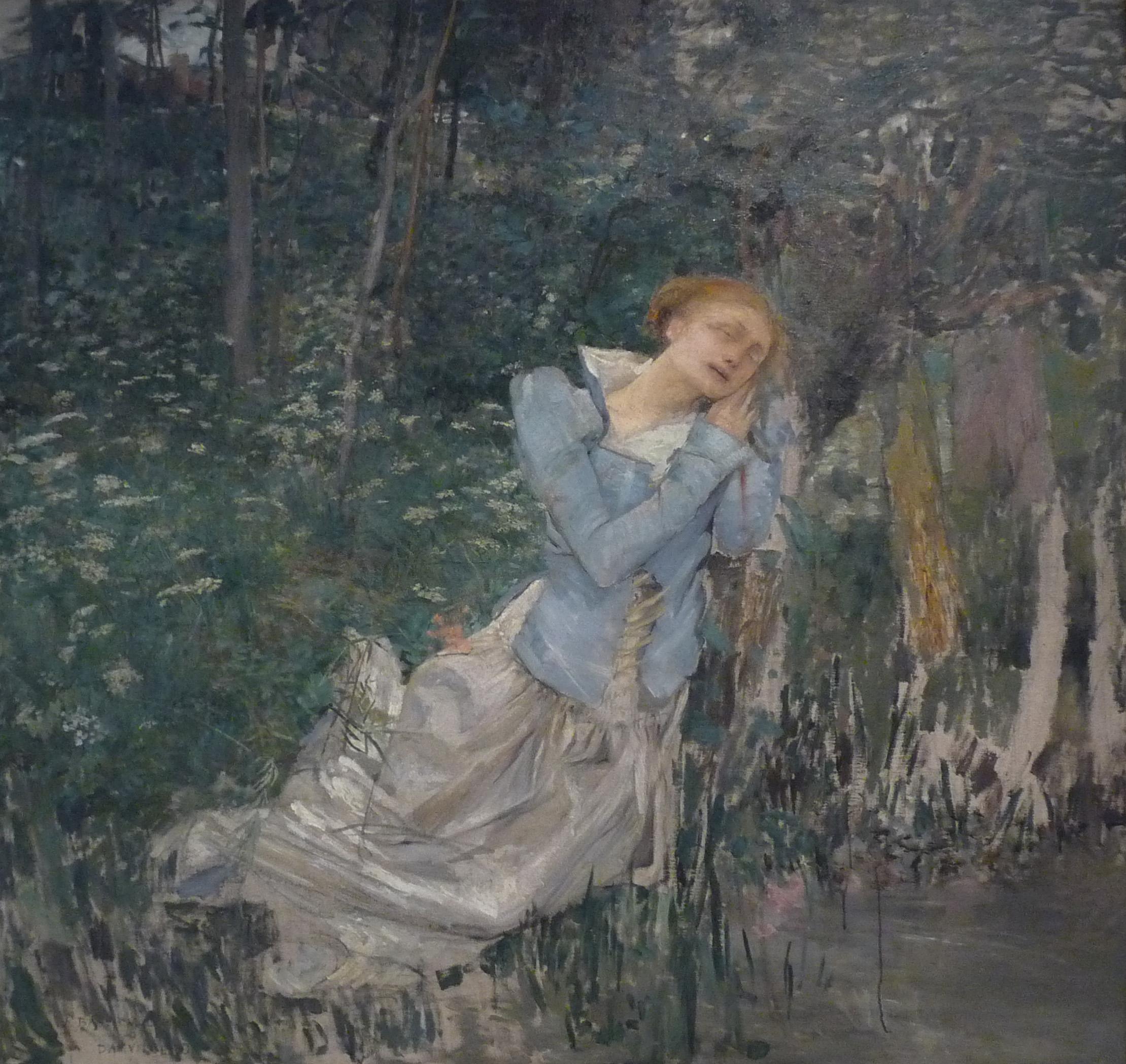 """""""Jules Bastien-Lepage-Ophélie-Musée des beaux-arts de Nancy"""" by Jules Bastien-Lepage - Own work Ji-Elle. Licensed under CC BY-SA 3.0 via Wikimedia Commons"""
