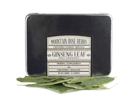 Mountain Rose Herbs PCO Forest Grown  American Ginseng Leaf . Whole roots and  whole plant extracts  are also available from their website.