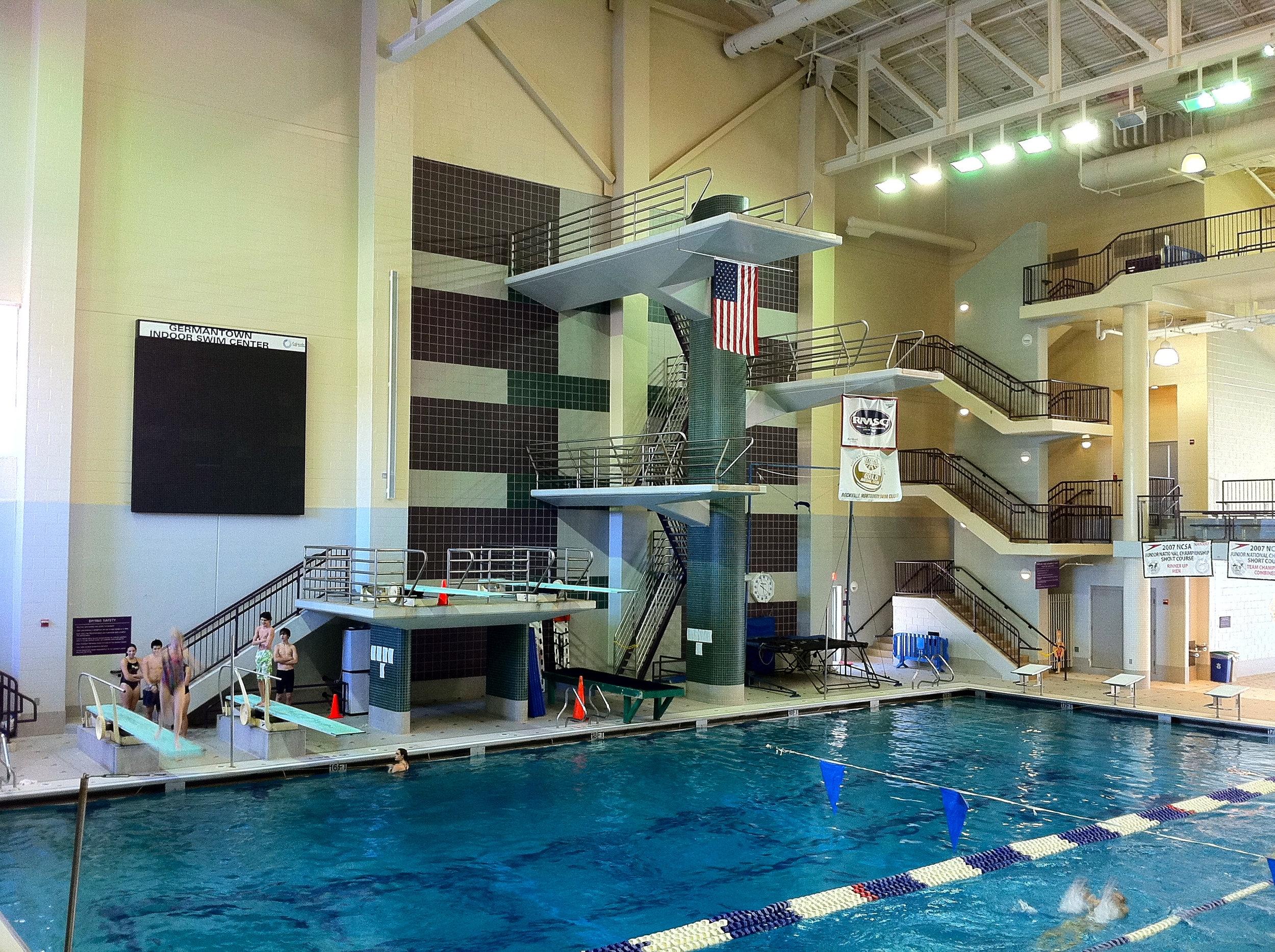 The Germantown Indoor Swim Center in Boyds, Maryland.