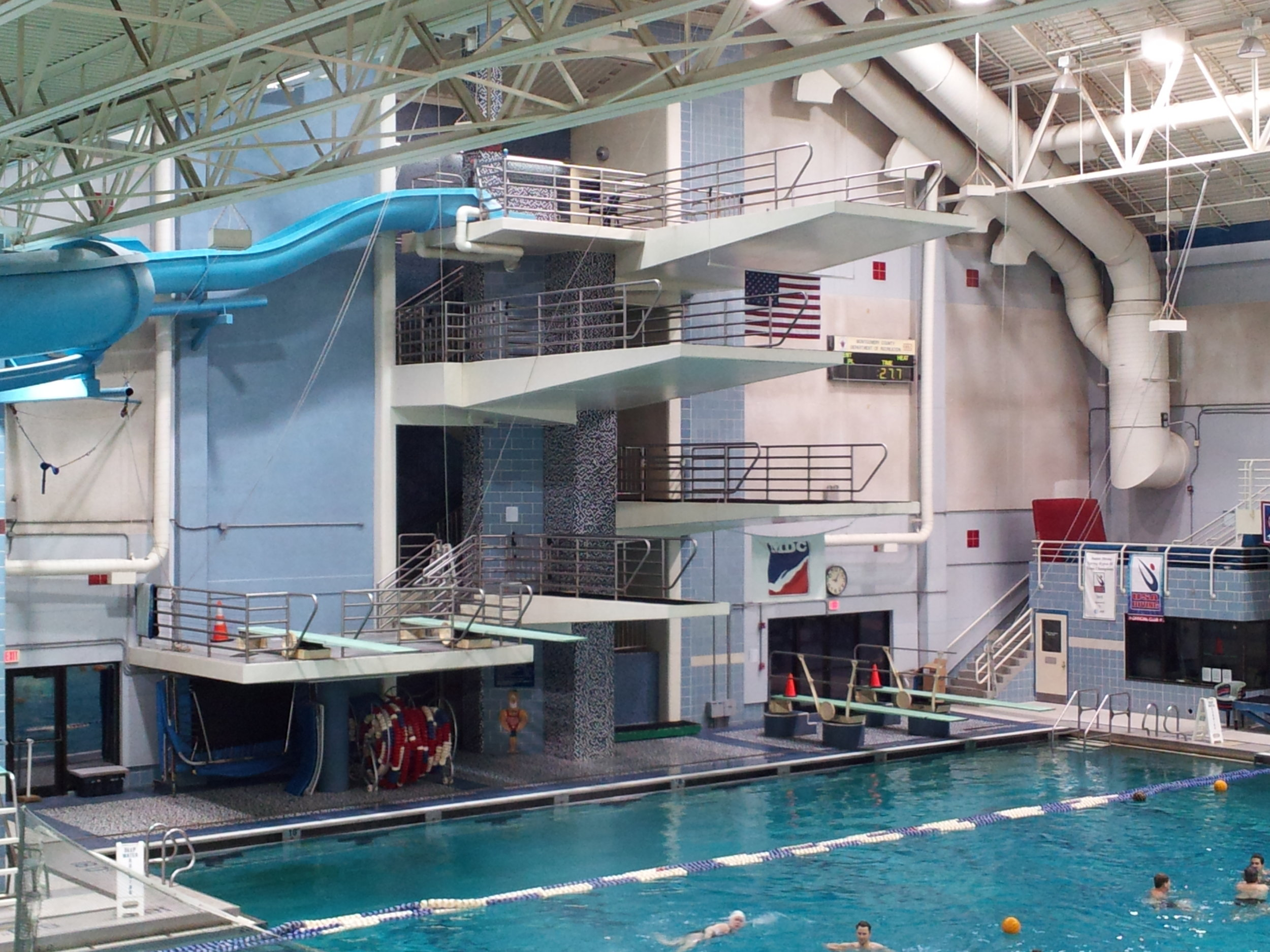 The Kennedy Shriver Aquatic Center in Rockville, Maryland.