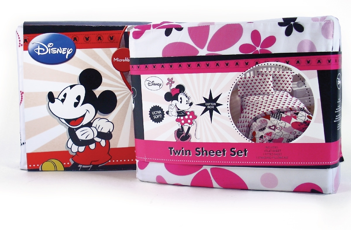 Mickey branded bedding packaging