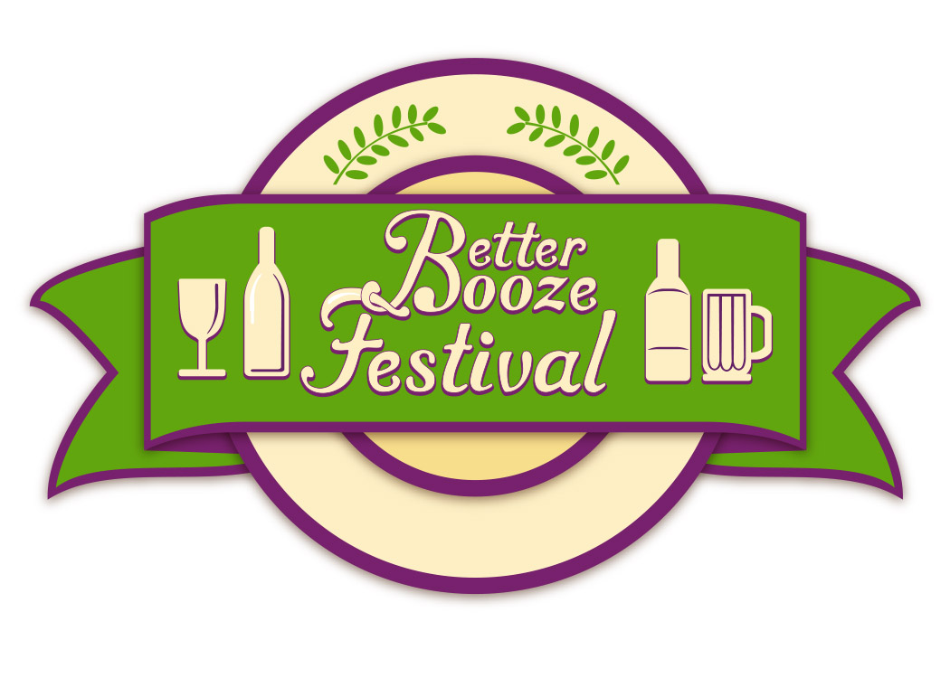 logo for Better Booze Festival, part of New York Veggie Fest