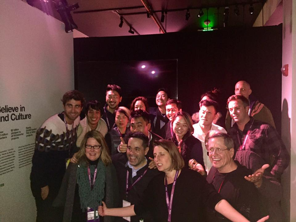 Cast&Crew of Spa Night at our Premiere Karaoke Party at the Kickstarter lounge!