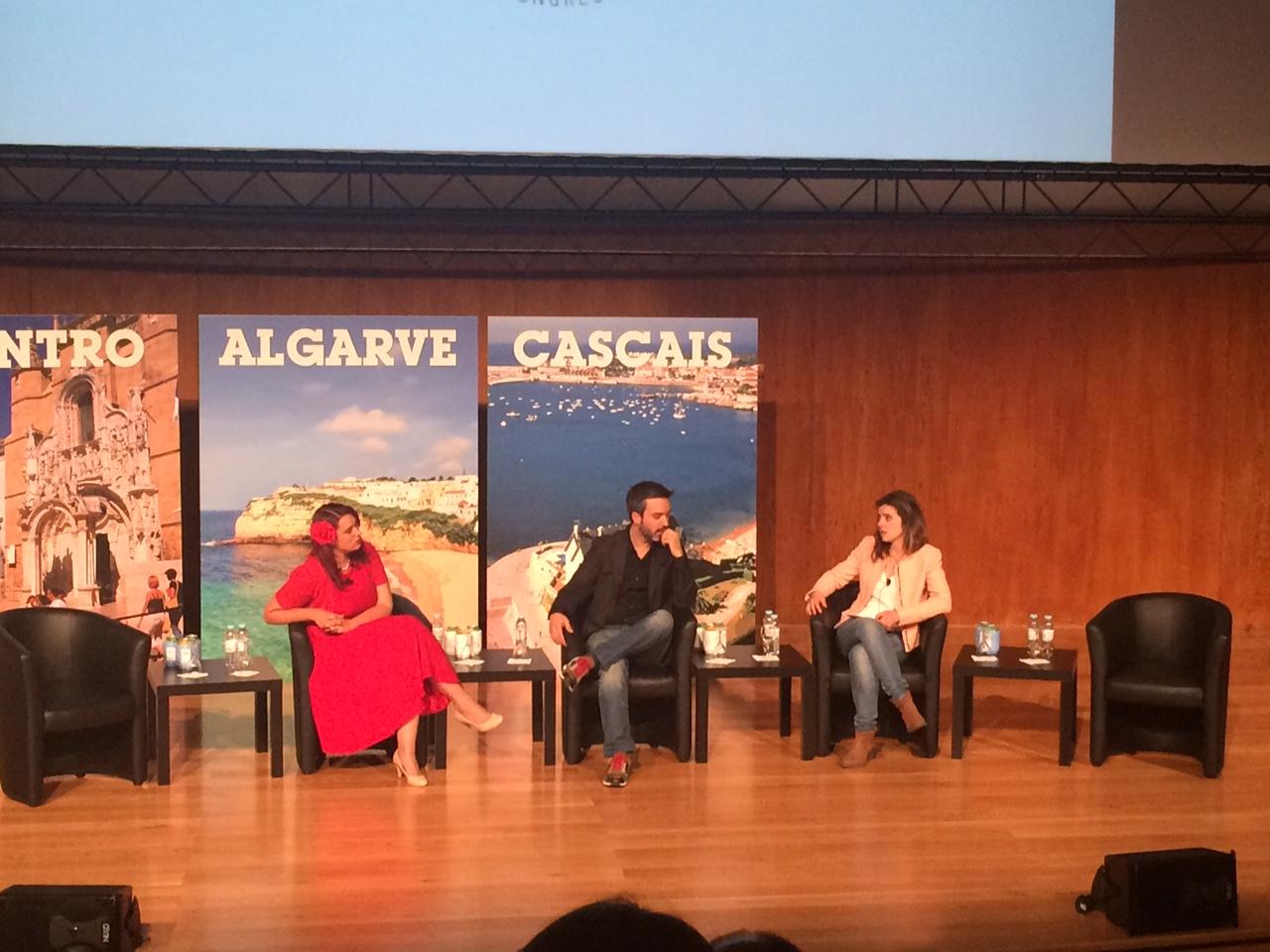 Henrique Sá Pessoa em debate com as Master Chefs australiana e portuguesa.