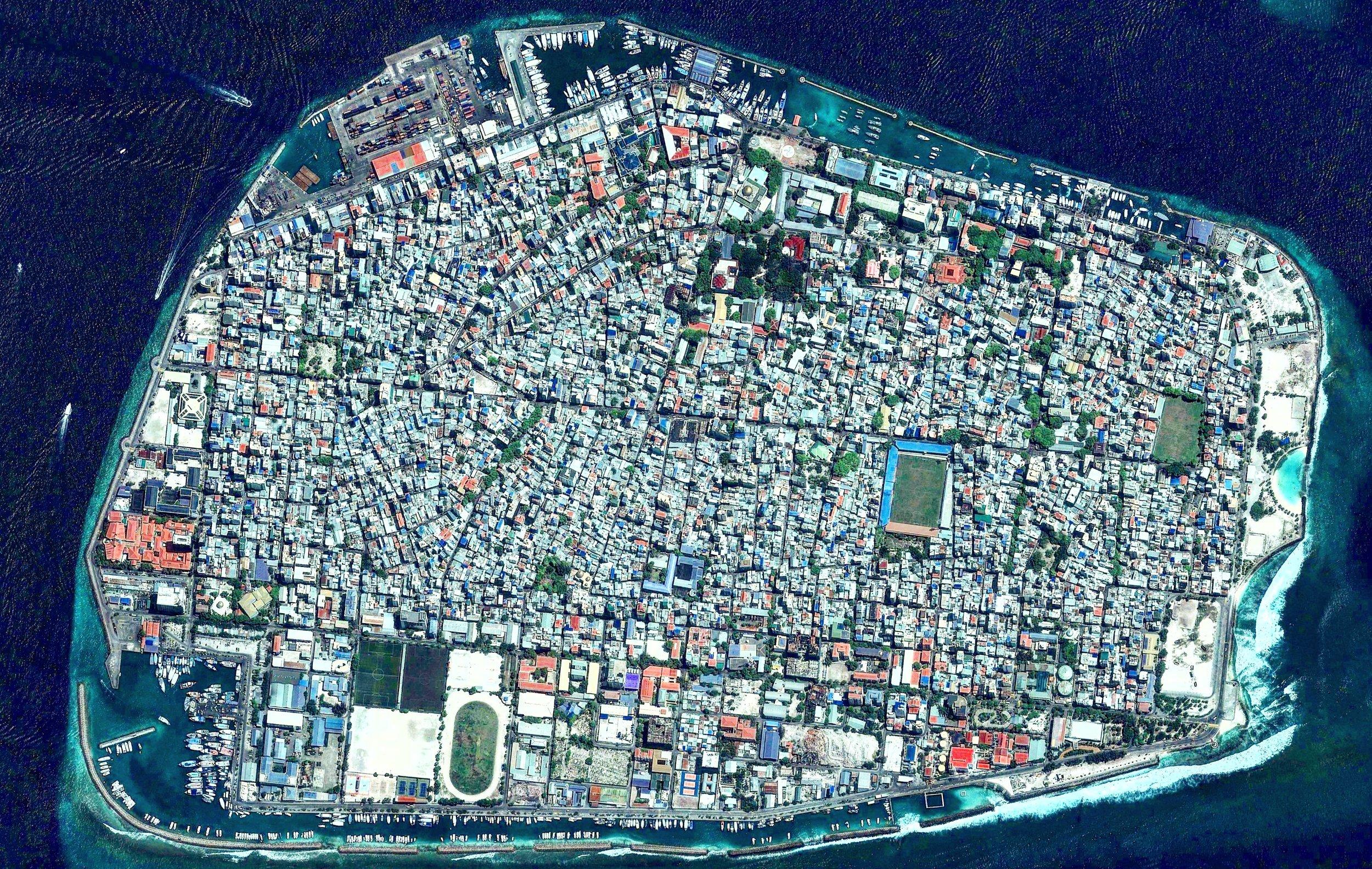 Malé, capital das Maldivas - image from www.reddit.com