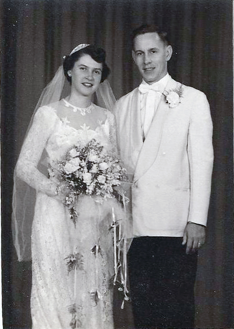 Babci & Dzaidzi on their wedding day, July 7, 1951, West Rutland, Vermont