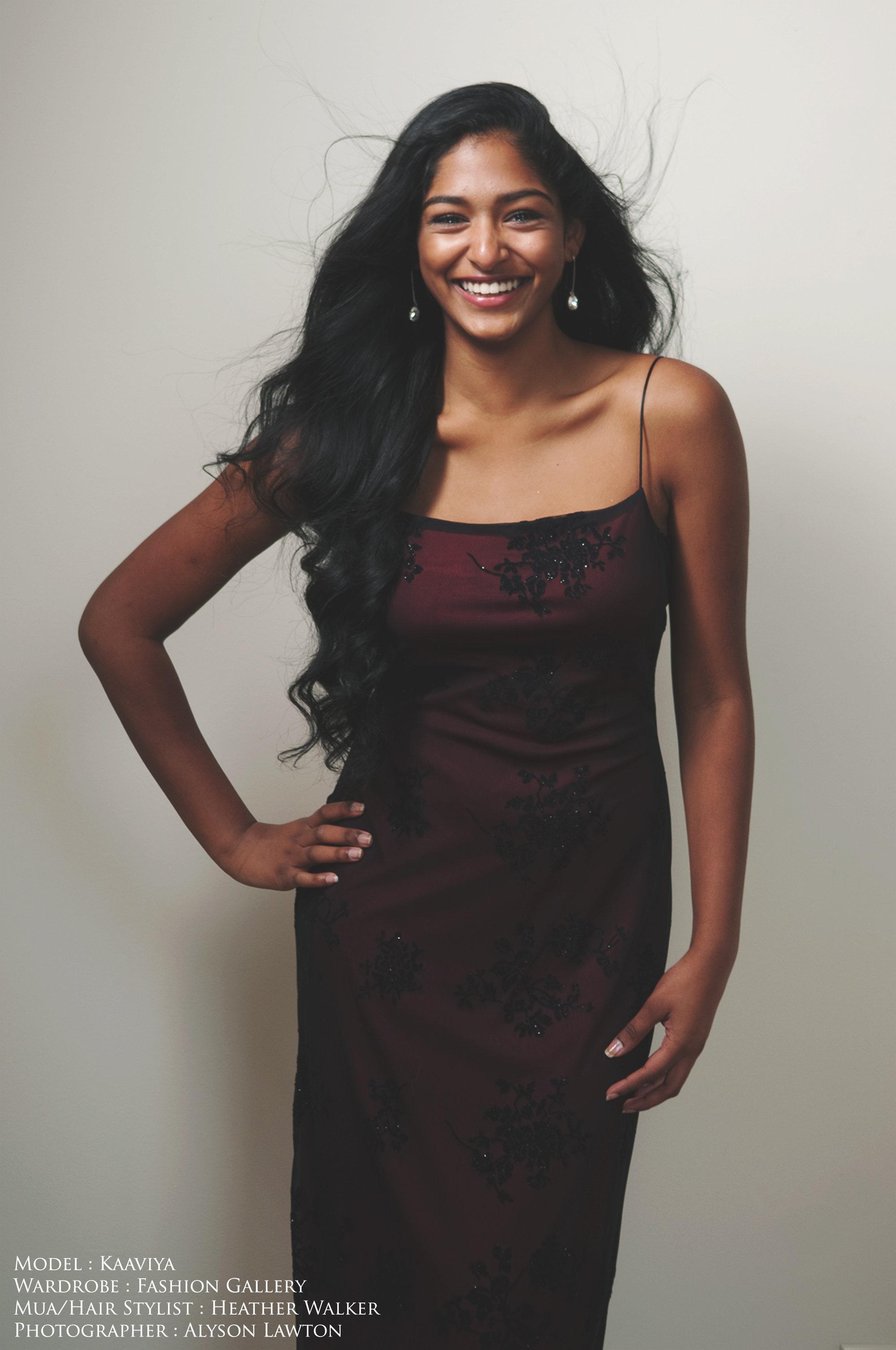 Model: Kaaviya  Clothing: Style in the City  Hair Stylist | MUA: Heather Walker  Photographer: Alyson Lawton