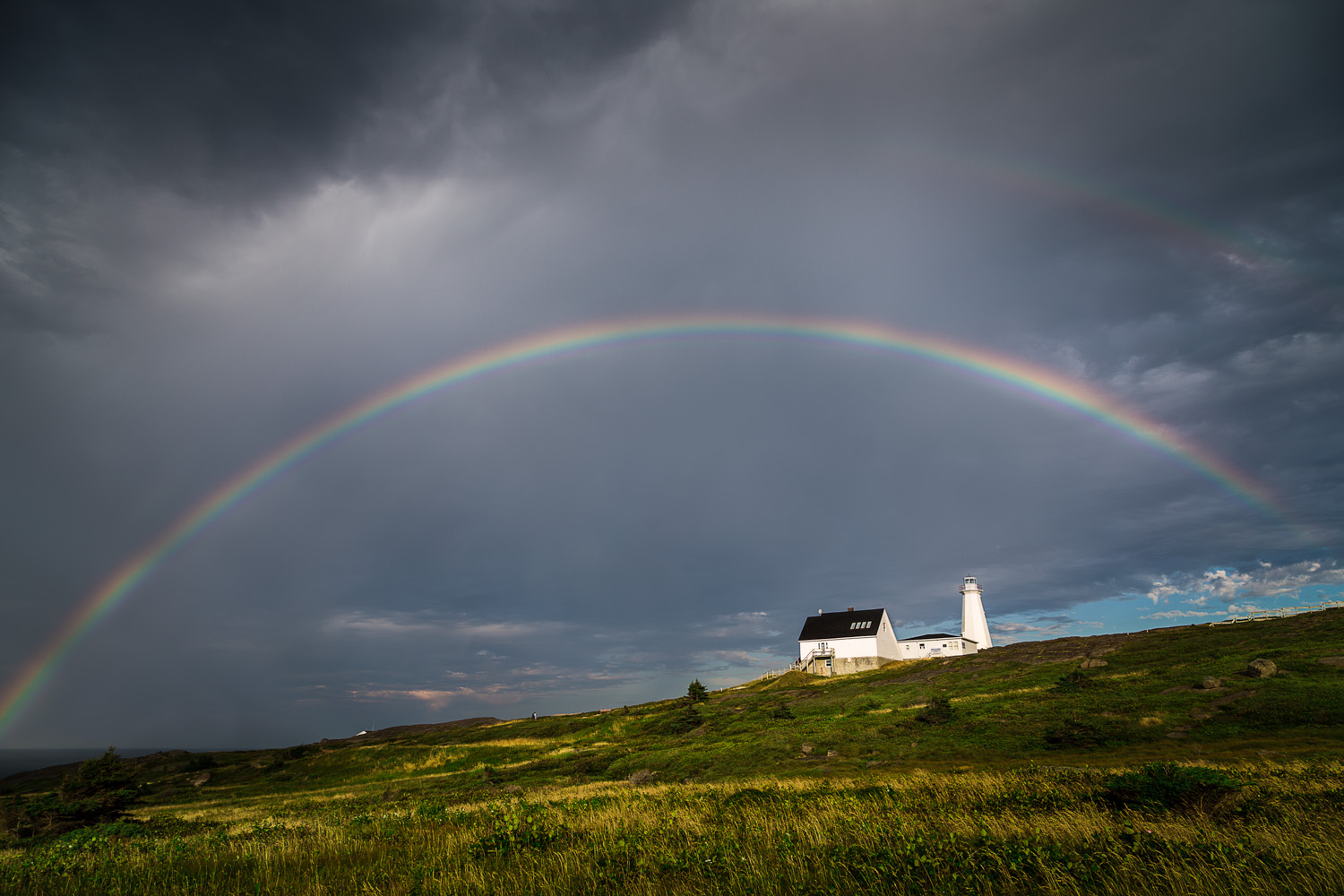 Cape Spear Lighthouse Rainbow