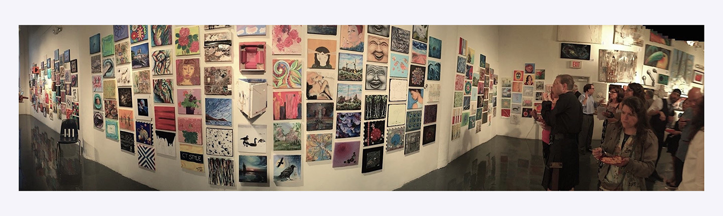 Connecticut Art for AIDS Fundraising Wall 2016