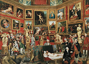 My feelings - my family is THIS grand!  THIS IS A GRAPHIC OF THE FAMOUS UFIZZI GALLERY PAINTING FOR QUEEN CHARLOTTE OF ENGLAND BY FAMOUS PAINTER JOHANN ZOFFANY - https://en.wikipedia.org/wiki/Tribuna_of_the_Uffizi This page lets you open it large and cursor for rollover explanations of the rich individual elements in the composition.