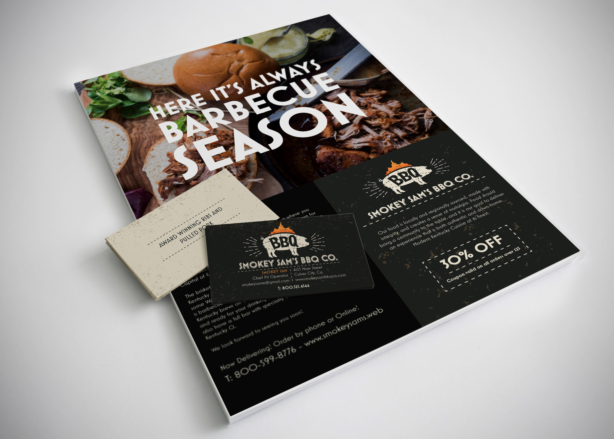 BBQ Restaurant - Flyer and Business Card - 2017