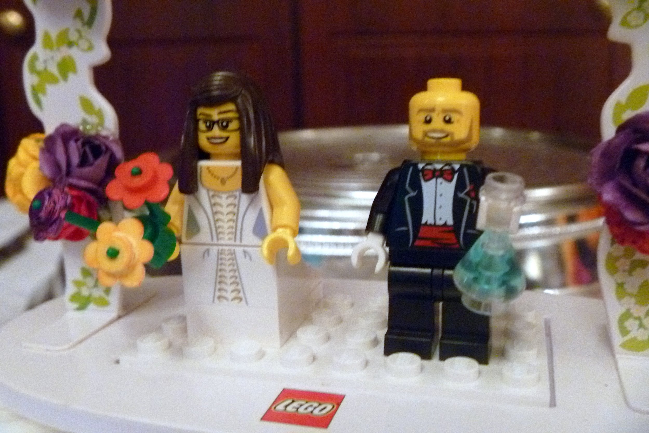 Photo credit: Flickr user Pete, used under Creative Commons license Public Domain Mark 1.0  DO have Lego figures at your wedding. DON'T do any of the following...