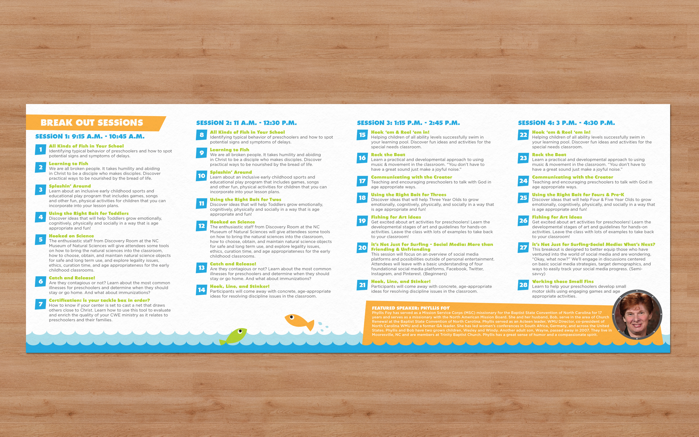 The inside of the mailer - flat.