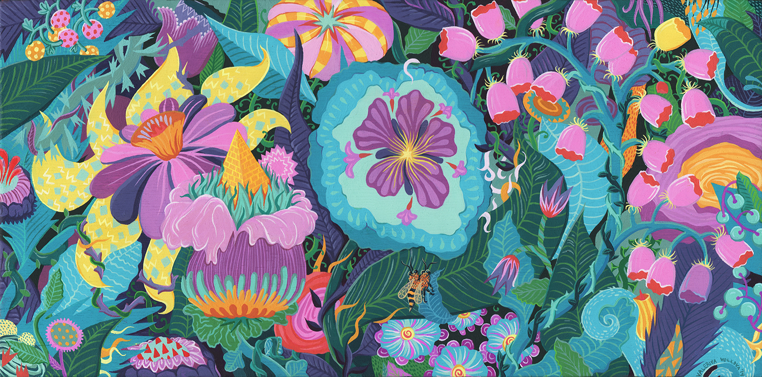 Acrylic and gouache on wood, 2014. Prints  here !