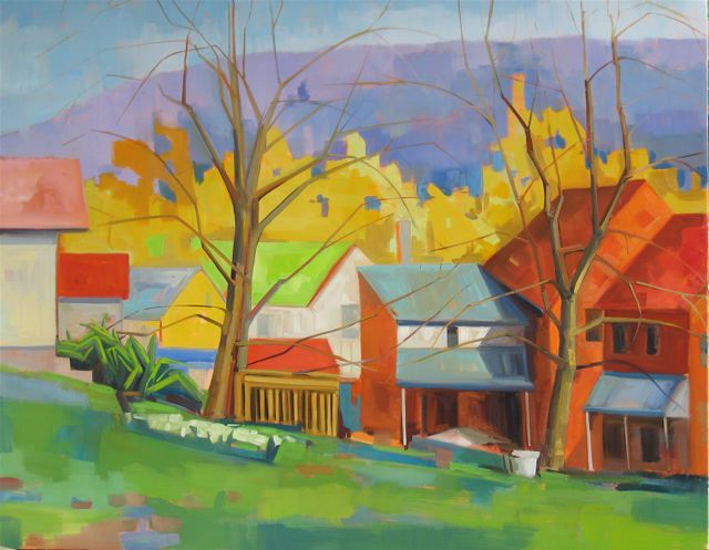SOLD Early Spring 48x60 public collction