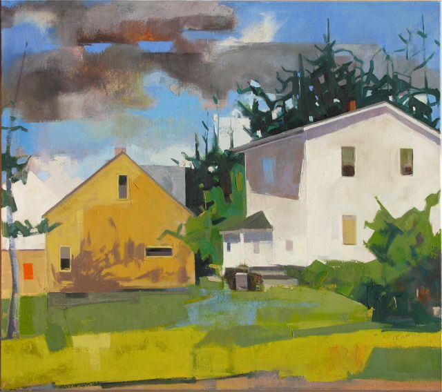 SOLD Church Yard oil 38x51 public collection