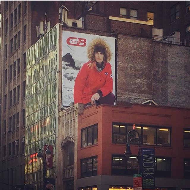 Adventures in Alaska Campaign is up! Doing it big time in NYC! @lindseyjacobellis @courtleve #cbsportsapparel #cbsports #cbpride #getoutdoors