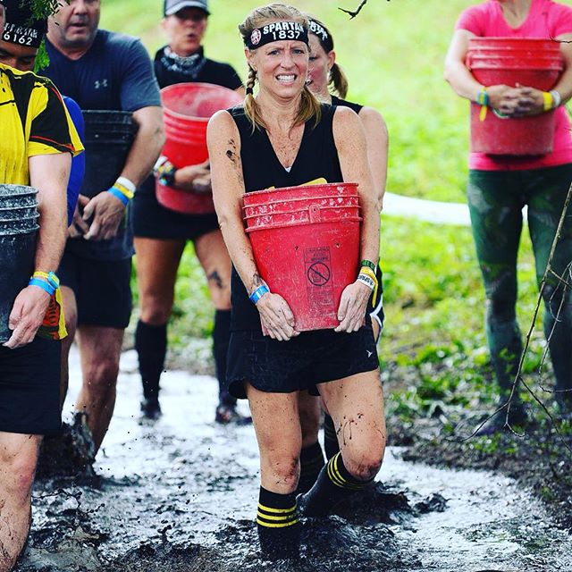 Throwing it back to when #CB team took on the @spartanrace. Looking tough @glibowski #cbpride #cbsports #cbsportsapparel #getoutdoors #spartanrace #burpees #toughenough