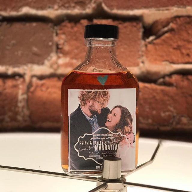 Repost from some nice little nippers we made of Tim's Place In Manhattan! Fun personalized drinks like this make any wedding party happy!! We customize labels and drinks for your event! . 📷: @airikapope photography.