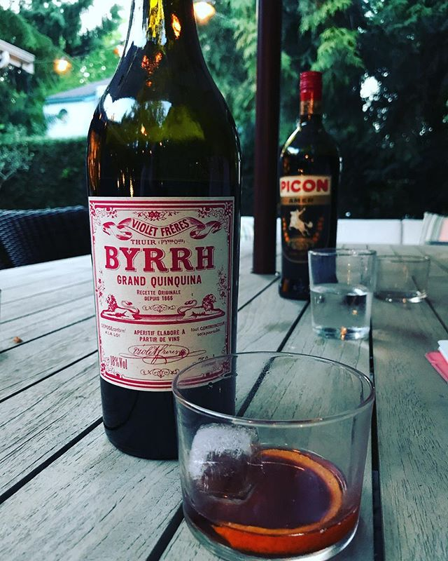 Trying new things at the Meaney Café! . #byrrh #apertif #france